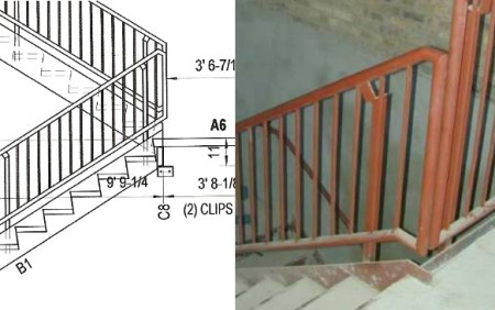 A CAD drawing and the finished product
